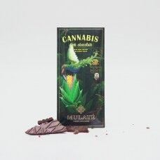 Ekologiškas juodasis šokoladas CANNABIS, 30g