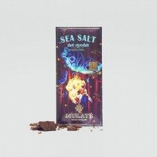 Ekologiškas juodasis šokoladas SEA SALT, 30g