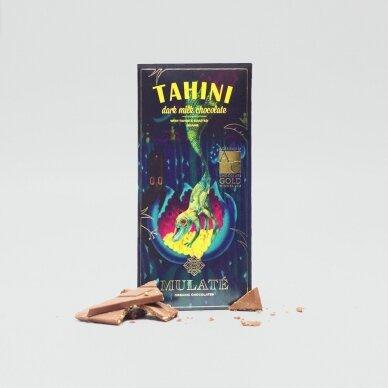 Ekologiškas pieninis šokoladas TAHINI, 30g