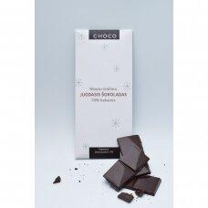 Juodasis šokoladas su kakavos branduoliais, 80g