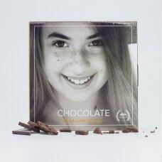 Juodasis šokoladas su liofilizuotais apelsinais, 60g