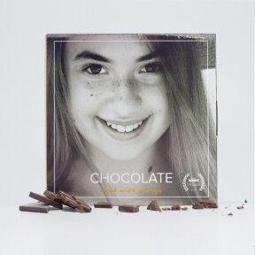 Dark chocolate with lyophilized orange, 60g