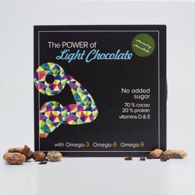 Juodas šokoladas su kanapių baltymais, be cukraus, 60g