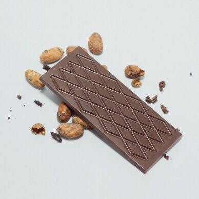 Juodas šokoladas su kanapių baltymais, be cukraus, 60g 2