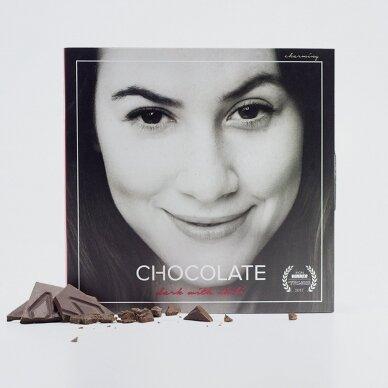 Juodasis šokoladas su čili pipirais, 60g