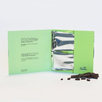 Juodasis šokoladas su kanapių sėklomis, 60g 3