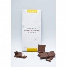 Pieninis šokoladas su sezamais, 80g