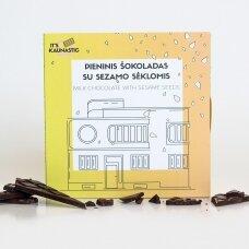 Pieninis šokoladas su sezamo sėklomis, 60g