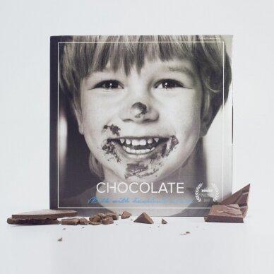 Pieninis šokoladas su skrudintų lazdyno riešutų pasta, 60g