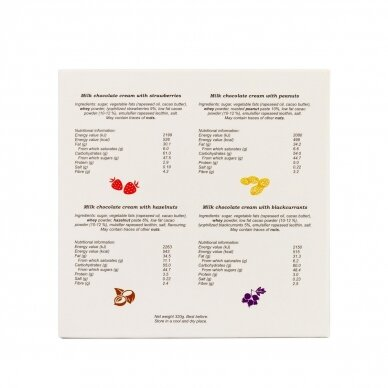 Pieniško šokolado kremų kolekcija, 320g 4