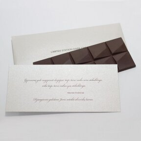 Chocolate in business envelope, 80g